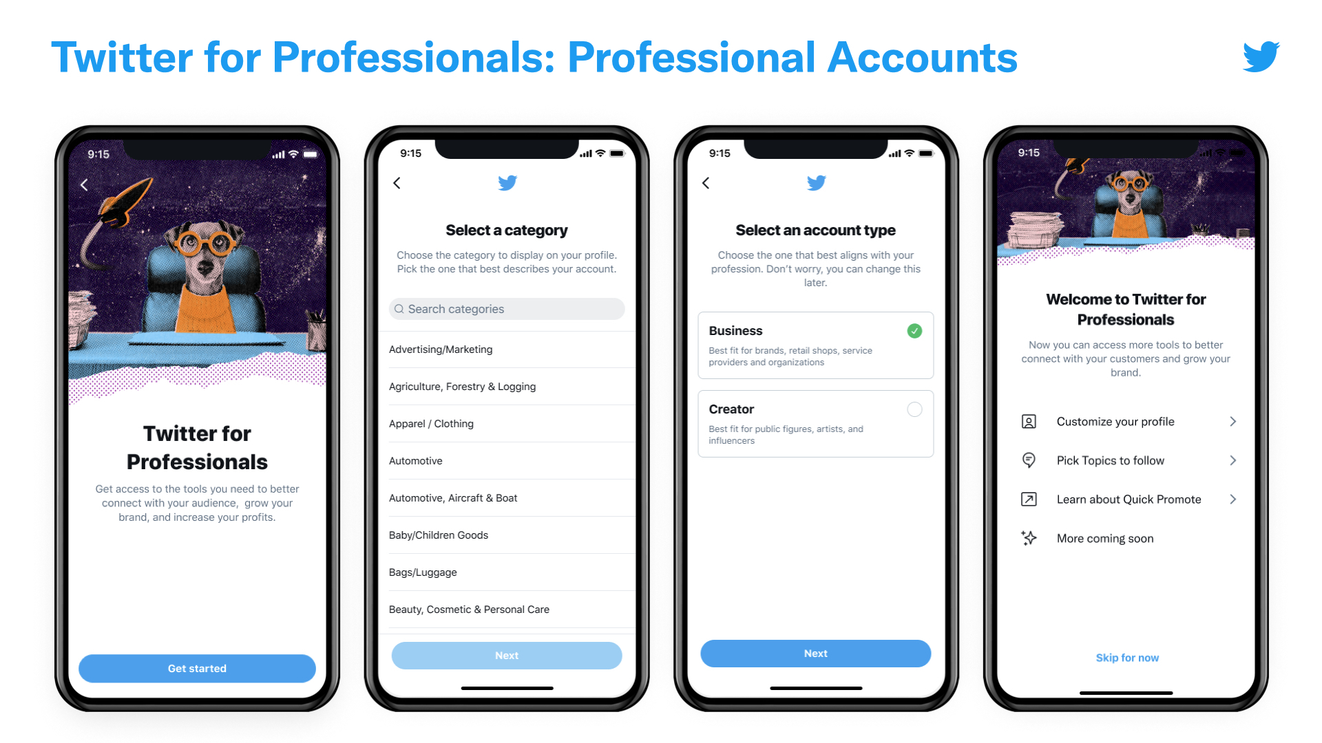 Twitter Profile for Professionals